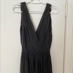 Karen Walker black ribbed dress